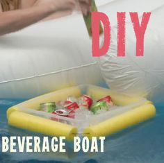 DIY Pool Noodle Floating Beverage Cooler >> https://www.facebook.com/HGTV/videos/10153903408689213/
