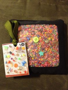 Followed a great tutorial on Youtube for an Eye spy bag.  My son was delighted with this.