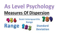 what are measures of dispersion in As level psychology? In this lesson we will go over how we analyse results using the range, semi interquartile range and s. A Level Revision, Psychology A Level, Standard Deviation, Education, Onderwijs, Learning