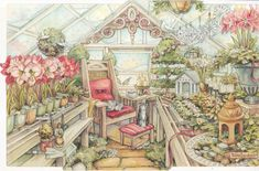 kim Jacobs Christmas Greenhouse