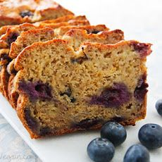 Applesauce instead of milk, almond flour instead of reg flour, maple syrup instead of agave. Eggless, Blueberry/Banana bread.