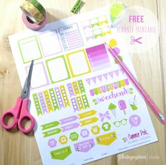 Summer Pink Planner Stickers - Free Printable Download