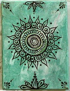 Any part of this design would make beautiful henna. The center bottom and top would look spectacular as upper stomach henna Colorful Mandalas