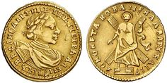 AV 2 Roubles. Russian Coins. Peter I. 1689-1725. 1720. 3.94g. Fr 91. Good VF. Price realized 2011: 15.000 USD