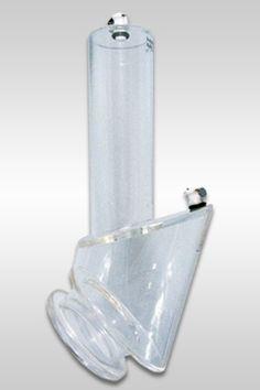 Le cylindre 2-Stage Isolator a 2 chambres séparées pour votre pénis et vos testicules ainsi que des niveaux différents de pompage. Ses fonctions: Masturber votre pénis, développer votre érection, étirer vos testicules en avant du corps.