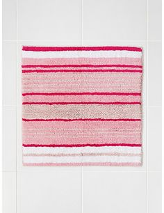 Pure Cotton Spa Striped Shower Mat Home