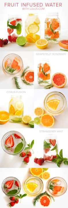 It can be hard to stay hydrated when on the gor but these fruit infused water recipes are the perfect solution for healthy, on-the-go hydration!