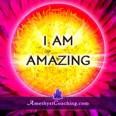 Today's Affirmation : I AM Amazing Visit us www.amethystcoaching.com Personal Coaching Site #affirmation #coaching Like Us on Facebook here:  https://www.facebook.com/amethystcoaching?ref=hl