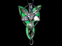 """Arwen Evenstar necklace """"Green GLOW in the DARK """" The Lord Of The Rings #Handmade #Pendant"""