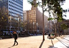 'Afternoon Sun', City Square, Melbourne. © G.C.Campbell.