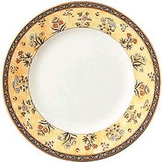 """Wedgwood India - Salad/dessert plate, 8.0"""" by Barrons Heslops. $21.00. Top quality, no chips, cracks or crazing. 8 1/8"""". In Stock. Wedgwood, England's finest china company, has been synonymous with beauty, craftsmanship and innovation for almost 250 years. Founded in 1759 by Josiah Wedgewood I, known as the 'father of English potters', Wedgewood created the ornamental wares black basalt and Jasper for which the company is still renowned and perfected Queen's Ware, the company'..."""