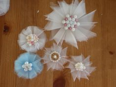 Tulle Flowers Tutorial (nice and easy)                                                                                                                                                                                 More