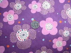 Kawaii Japanese Fabric Komachi Purple Lavender FQ by CottonStudio, $4.50