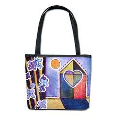 """House and Home""  Kelli Bickman, Bucket Bag $68.99 more info here: http://www.cafepress.com/kellibickman.727489468"