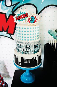 Avengers Inspired Superhero Birthday Bash: The Cake