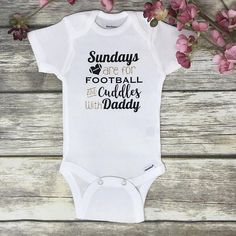 Baby Outfits, Toddler Outfits, Baby Dresses, Girls Dresses, Cute Baby Gifts, Baby Girl Gifts, Football Onesie, Football Gift, Newborn Onesies