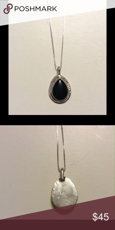 925 Silver & Black Onyx Chain and Pendant  Gorgeous 925 silver and black onyx pendant and chain. Bought in New Mexico. Just lovely on. Jewelry Necklaces