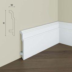 Plinta decorativa de perete S10 Manavi este o plinta din polimer rigid, de culoare alba, ulterior putand fi vopsita in orice nuanta doriti. Plintele decorative din polimer rigidse recomanda a fi taiate la un unghi de 45 degrade, astfel nemaifiind necesara nici o piesa de imbinare, continuitatea acesteia pe suprafata peretelui fiind una foarte estetica. Plinta decorativa de perete S10... Outdoor Furniture, Outdoor Decor, Outdoor Storage, Storage Chest, Cabinet, Elegant, Home Decor, Bedroom, Products