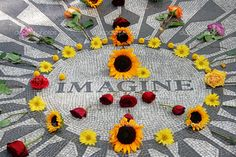 """""""Imagine"""" (ode to John Lennon, who had lived nearby in The Dakota building prior to his death), Strawberry Fields, Central Park"""
