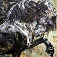 Horse art   Pferde gemalt: Spanish Step