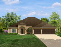 Four Of A Kind With 3 Car Garage - 82043KA   1st Floor Master Suite, CAD Available, Florida, PDF, Ranch, Southern, Split Bedrooms   Architectural Designs