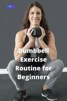Dumbbell Exercise For Beginners - Health Fitness And More Dumbbell Workout, Dumbbell Exercises, Belly Fat Workout, Workout For Beginners, How To Stay Motivated, Get Started, Healthy Lifestyle, Routine, Health Fitness