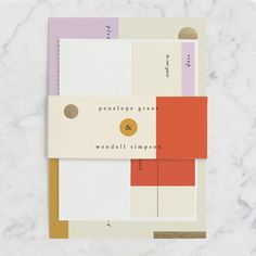 Paradigm Pair Foil-Pressed Wedding Invitations by CeCe Fields | Minted