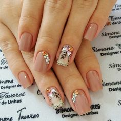 Manicure, Nails, Hair Styles, Beauty, Beautiful, Design, Nail Jewels, Work Nails, Enamels