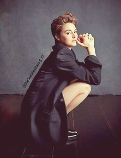 Woman Crush Everyday: Shailene Woodley  (with short hair) Edited: By Me! =)