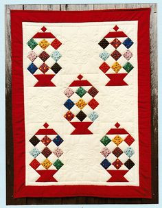 Candy Jar Wall Hanging Quilt Pattern - Rose Marie Page