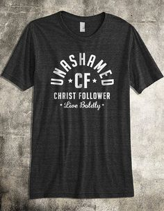 Unashamed Christ Follower - Charcoal Gray Men's Christian T-Shirt (ON SALE) on Etsy, $12.00