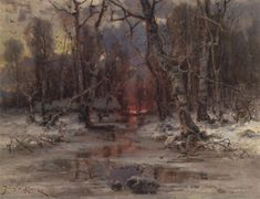 Forest clearing , 1905 - Yuliy Yulevich Klever