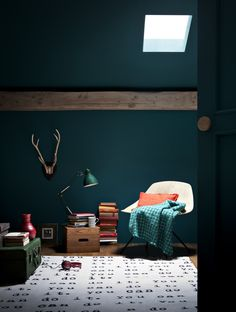 Green Wall Paint trend crush: dark interior paint colors | dark interiors, green