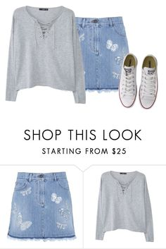 """""""life is good"""" by emily-princess ❤ liked on Polyvore featuring Valentino, MANGO and Converse"""