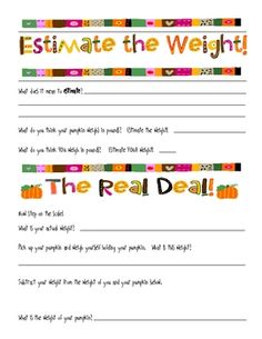 Here's a pumpkin mini-unit that includes  writing with the five senses, floating experiment, graphing, measuring and more.