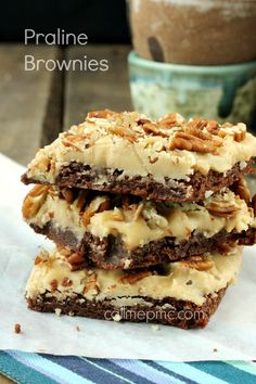 Praline Brownies decadent and delicious!