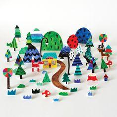 Shrink plastic village!