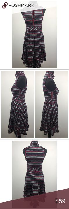 """L.A.M.B Gwen Stefani Sleeveless Mock Neck Dress Pre owned in great condition (as the pics show). This fun multi-color limited edition dress from a previous fall collection is so fun & flattering. It features a zip closure on the back & at the shoulder. It will look super cute with tights & booties.                          ♦️Measurements: Bust= 14.5"""" Waist= 14.25"""" Length= 38""""                               ♦️Open to reasonable offers  L.A.M.B. Dresses"""