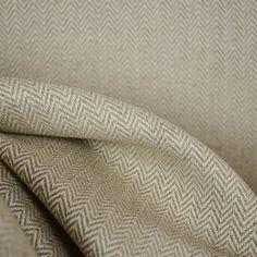 Fraser Island Flax Herringbone Linen Fabric