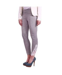 Street 9 Grey Leggings with Contrast Crochet Patch #legging #ohnineone