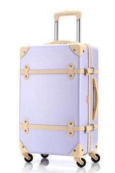 Ambassador® Vintage Series Retro Carry On 20'' Suitcase Spinner Luggage Purple #Ambassador