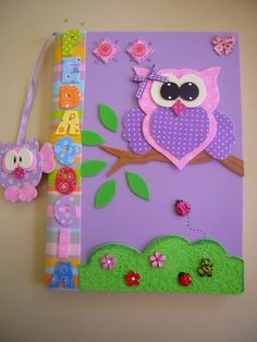 See 1 tip from 7 visitors to Night Owl Study Room. Owl Crafts, Diy And Crafts, Crafts For Kids, Paper Crafts, Merian, Felt Books, Foam Sheets, Art N Craft, Decorate Notebook