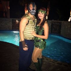 Batman cosplay poison ivy costume and bane costume halloween diy bane poison ivy costume solutioingenieria Choice Image