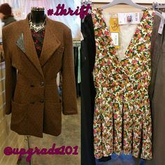 Loving this Beyond Retro floral dress and vintage blazer in Oxfam Dalston!