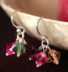 Projects - Earrings with Swarovski® Crystals - Fire Mountain Gems and Beads