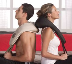 No more begging for massages! the i-need® Neck & Shoulder Pro Massager with Heat from Brookstone.