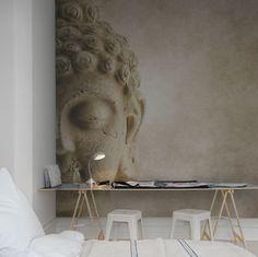 Hey, look at this wallpaper from Rebel Walls, Buddha! #rebelwalls #wallpaper #wallmurals