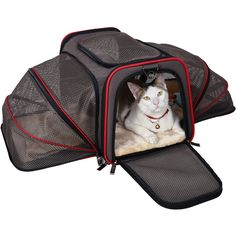 Expandable Foldable Washable Travel Carrier, Airline Approved Pet Carrier Soft-sided (Two Extension) ** You can get more details by clicking on the image.