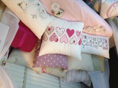 Kirsty Allsop cushions on day bed.