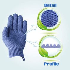EvridWear Exfoliating Dual Texture Bath Gloves for Shower, Spa, Massage and Body Scrubs, Dead Skin Cell Remover, Gloves with hanging loop Pair Heavy Glove) Good Massage, Facial Massage, Spa Massage, Exfoliating Gloves, Dead Skin, Smooth Skin, Healthy Skin, How To Remove, Body Scrubs